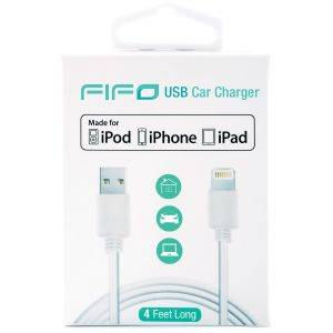 Cablu USB iPhone FIFO White Certificat Apple